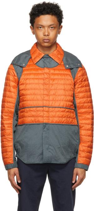 Moncler Genius 5 Moncler Craig Green Orange & Grey Down Chrysemys Jacket