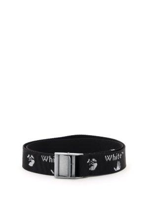 OFF-WHITE JACQUARD LOGO BELT L/XL Black, White