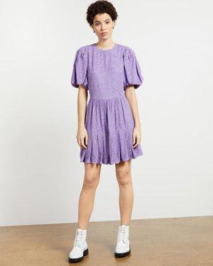Pleated Hem Mini Dress
