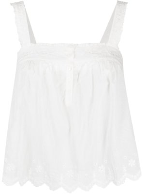 Reformation Blue Jay embroidered top - White