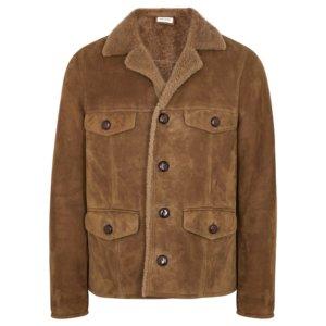 Saint Laurent Brown Shearling Jacket