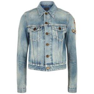 Saint Laurent Light Blue Denim Jacket