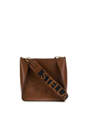 Stella McCartney Stella Logo shoulder bag - Brown