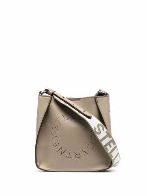 Stella McCartney mini Stella Logo shoulder bag - Neutrals