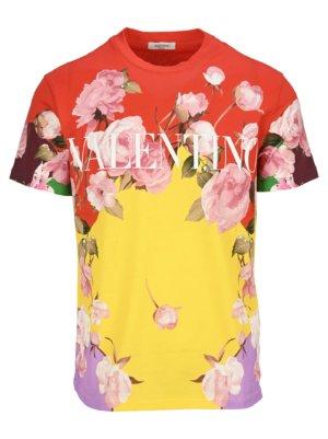 Valentino Flying Flowers Print T-shirt