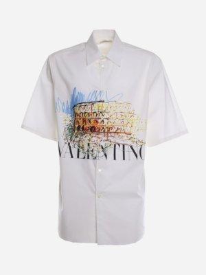 Valentino Roman Sketches Cotton Shirt