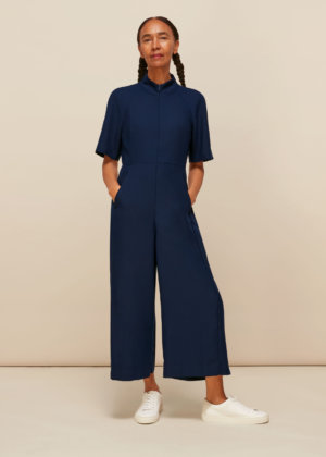 Whistles Women Amber Crepe Jumpsuit
