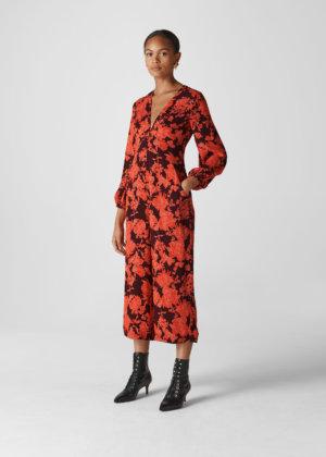 Whistles Women Juana Silk Jumpsuit