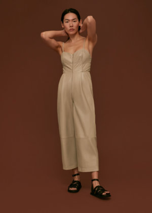 Whistles Women Leather Jumpsuit