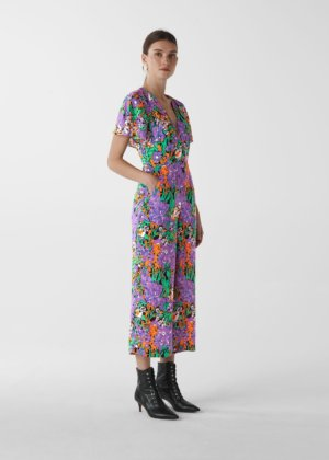 Whistles Women Simone Floral Print Jumpsuit