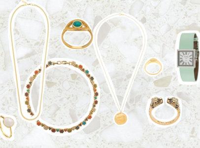 jewellery collage