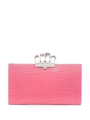 Alexander McQueen Four Ring clutch bag - Pink
