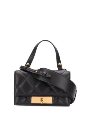Alexander McQueen Skull lock crossbody bag - Black