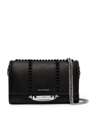 Alexander McQueen braided-detail shoulder bag - Black
