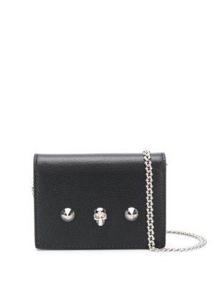 Alexander McQueen mini Skull and Stud crossbody bag - Black