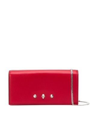 Alexander McQueen skull and stud bag - Red