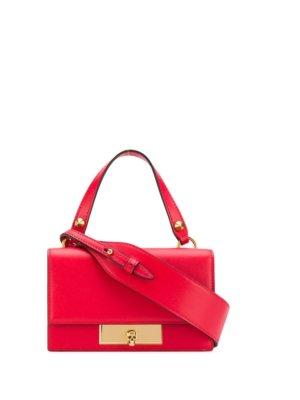 Alexander McQueen skull flap bag - Red