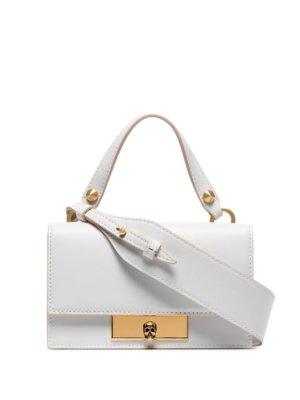 Alexander McQueen small Skull Lock shoulder bag - White