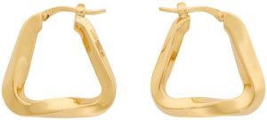 Bottega Veneta Gold Triangle Hoop Earrings