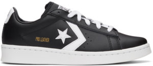 Converse Black & White Leather Pro OX Sneakers