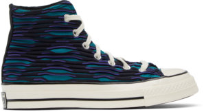 Converse Blue & Purple Wavy Knit Chuck 70 High Sneakers