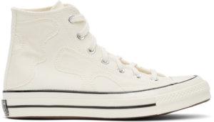 Converse Off-White Raw Earth Camo Chuck 70 Hi Sneakers