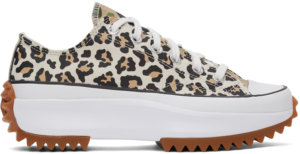 Converse Off-white Leopard Run Star Hike Low Sneakers