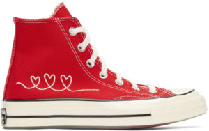 Converse Red Valentine's Day Chuck 70 High Sneakers