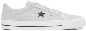 Converse Taupe Suede Perforated One Star Pro Low Sneakers