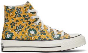 Converse Yellow Culture Prints Chuck 70 Hi Sneakers