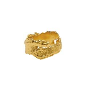 Deborah Blyth - Gold Adjustable Bark Ring