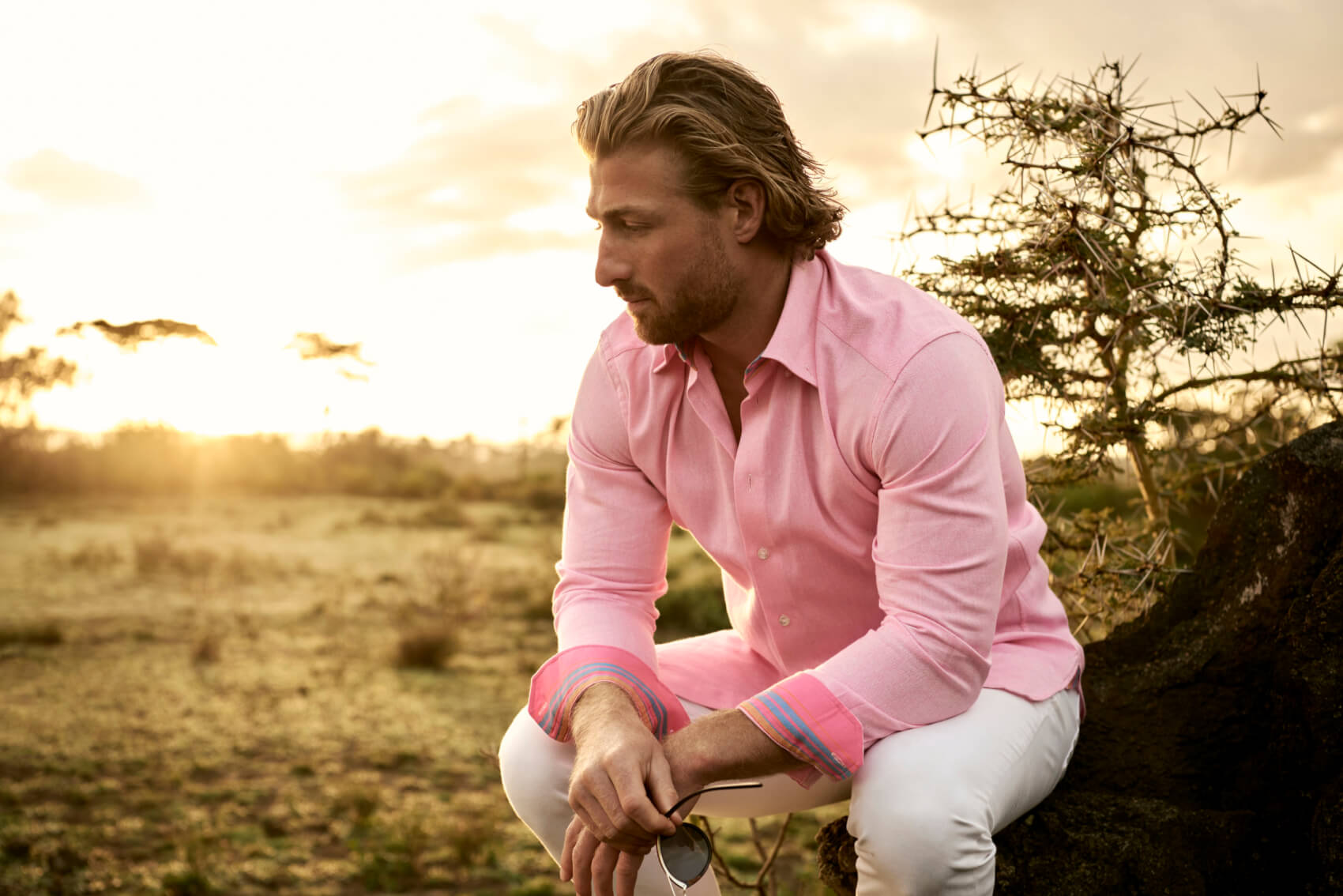 jimmy scott in pink koy shirt