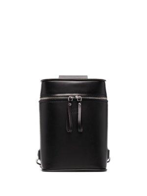 Maison Margiela cylindrical logo embossed backpack - Black