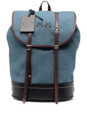 Maison Margiela drawstring duffle backpack - Blue