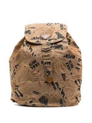Prada Pre-Owned 1990s printed backpack - Neutrals