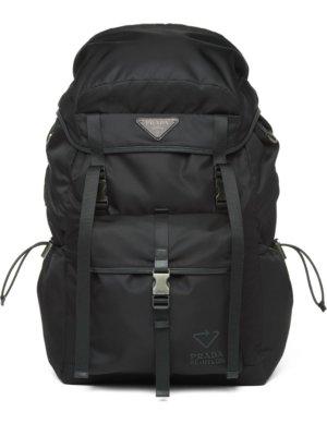 Prada Re-Nylon and Saffiano leather backpack - Black