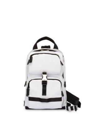 Prada Technical fabric backpack - White