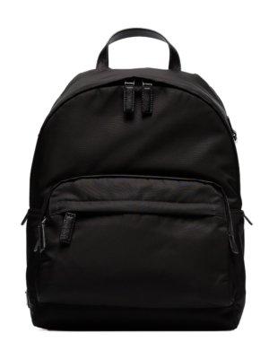 Prada classic logo plaque backpack - Black