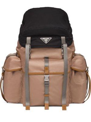 Prada multi-compartment backpack - Neutrals