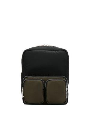 Prada multi-pocket colour block backpack - Black