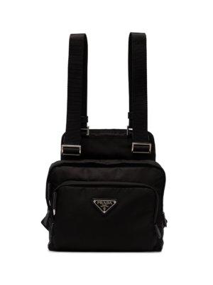 Prada multiple pocket backpack - Black