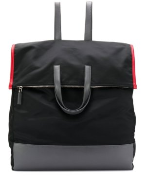 Prada oversized panelled backpack - Black