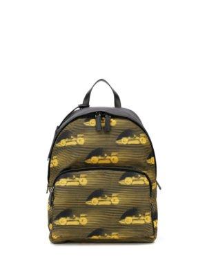 Prada race car-print backpack - Black