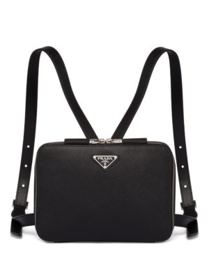 Prada small Saffiano backpack - Black