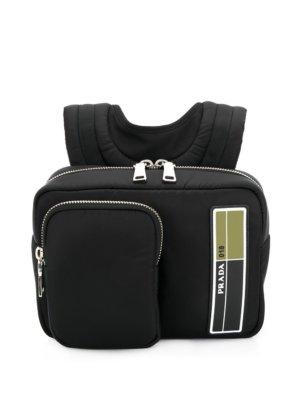 Prada small zipped backpack - Black