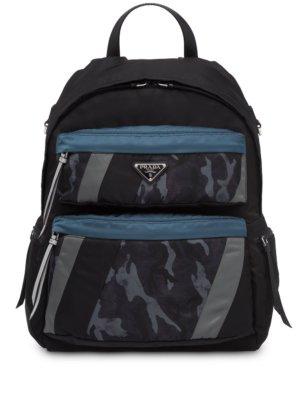Prada technical fabric backpack - Blue