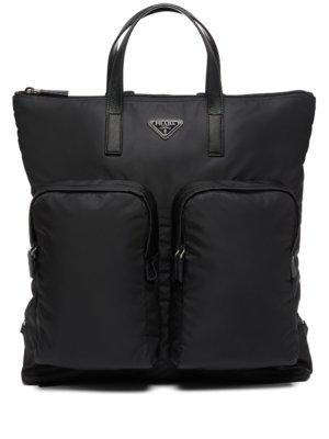 Prada triangle-logo backpack - Black