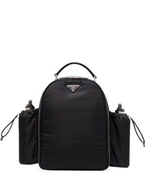 Prada triangle-logo nylon picnic backpack - Black