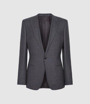 Reiss Bounce - Wool Slim Fit Blazer in Grey, Mens, Size 36