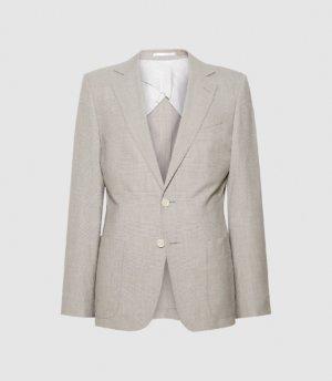Reiss Boyce - Slim Fit Tailored Blazer in Grey, Mens, Size 36